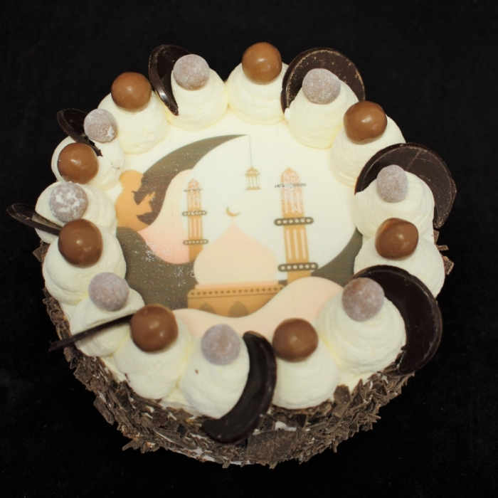 Basis Dunya Slagroom Taarten met afbeelding, foto of logoSuikerfeest met maltezer decoratie