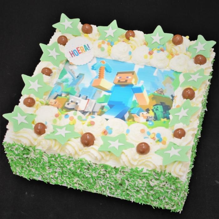 Basis Dunya Slagroom Taarten met afbeelding, foto of logoSlagroomtaart met afbeelding (Minecraft) in groen tinten