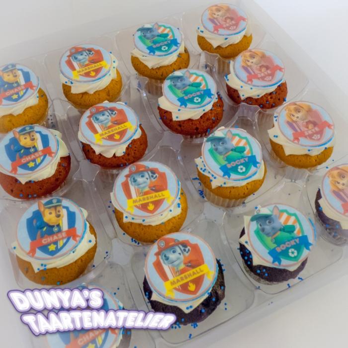 Kleine Cupcakes met afbeelding - foto - logo Kleine Cupcakes - Paw Patrol