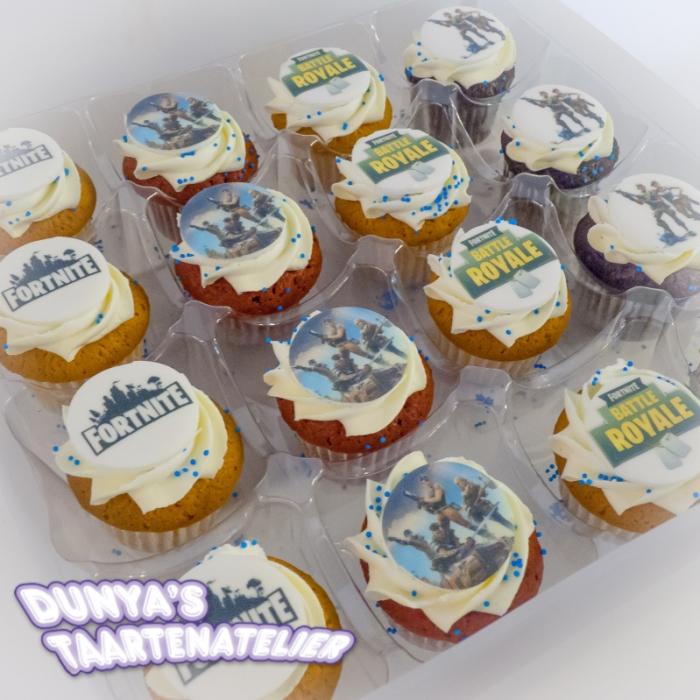 Kleine Cupcakes met afbeelding - foto - logo Kleine Cupcakes - Fortnite