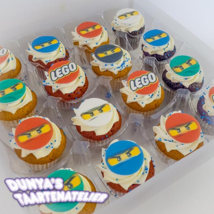 Kleine Cupcakes met afbeelding - foto - logo Kleine Cupcakes - Ninjago