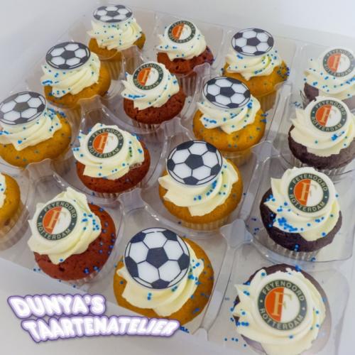Kleine Cupcakes - Voetbal