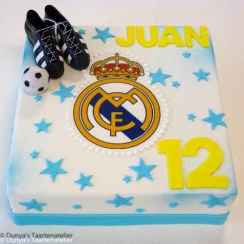 Voetbal taart met Real Madrid logo
