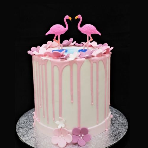 Flamingo - XL - roze drip