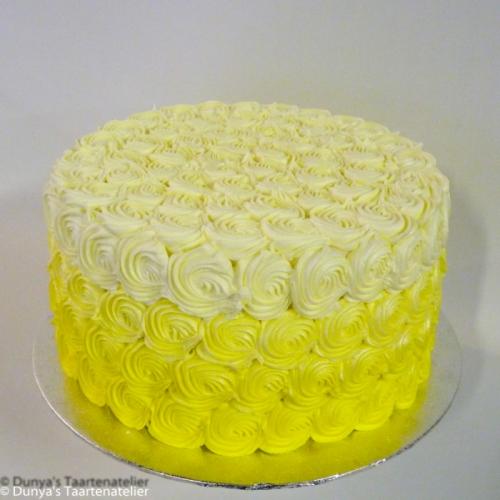 Ombre rozetten - geel