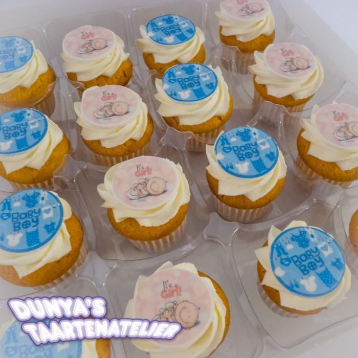 Grote Cupcakes met afbeelding - foto - logoGrote Cupcakes - Baby