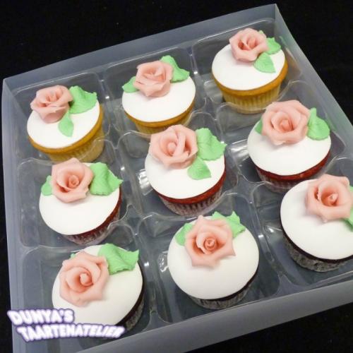 Cupcake met Roze Roos