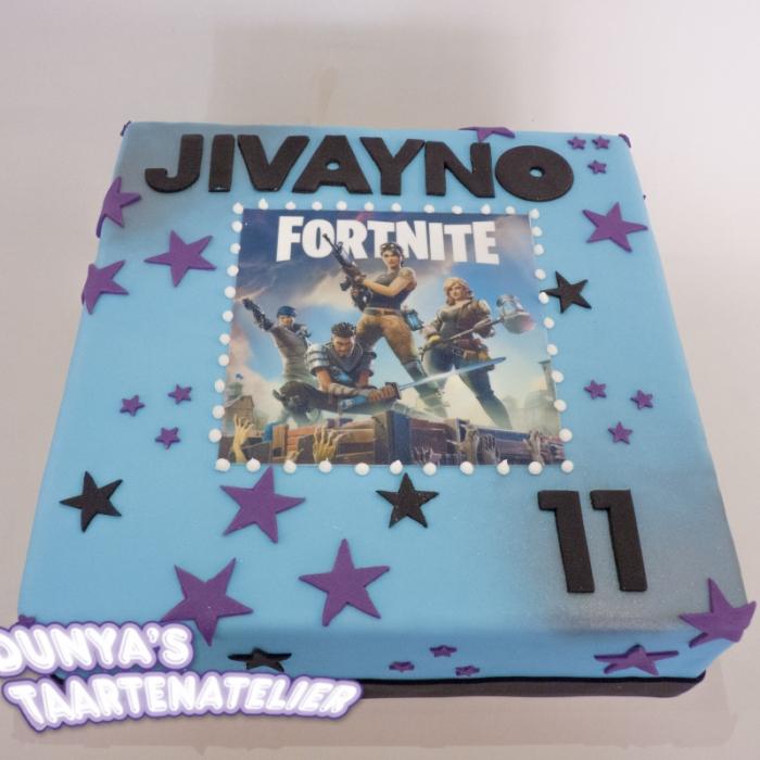 Taarten voor kinderen met afbeeldingFortnite (jivayno)