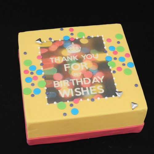 Thank You for the Birthday Wishes - colours