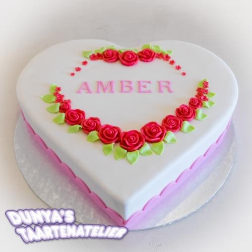 Hart taart - Amber
