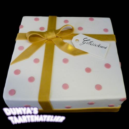 Cadeau - goud/roze