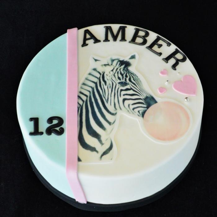 Happy BirthdayBubblegum - Zebra