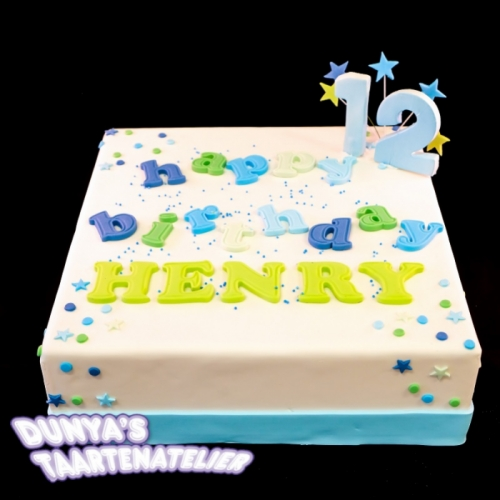 Happy Birthday .... - blauw tinten