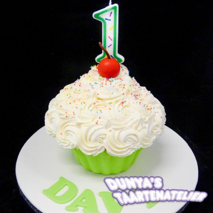 XL - cupcake smashpartySmash Cupcake - Groen