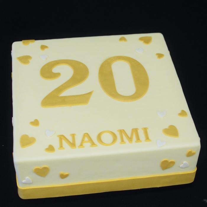 Taarten  met cijfers en/of tekstGrote cijfers - gouden tinten