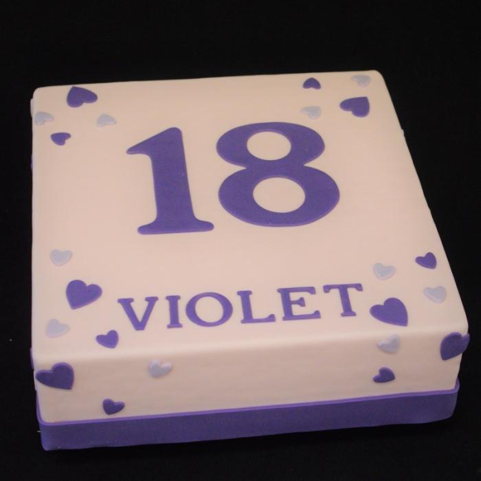 Taarten  met cijfers en/of tekstGrote cijfers - roze/lila/paars tinten