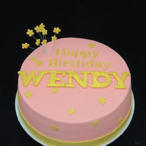 Taart met tekst (Wendy)