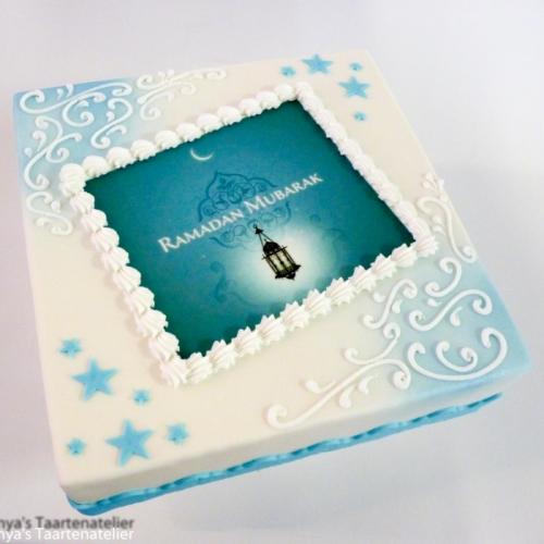 Eid Mubarak - blauw