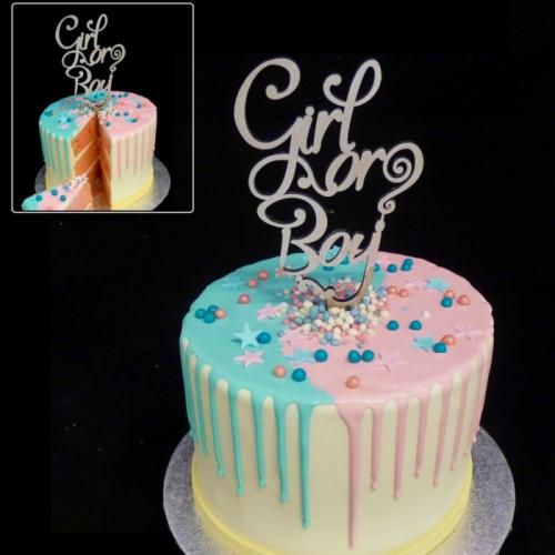 Gender Reveal Drip cake (s)