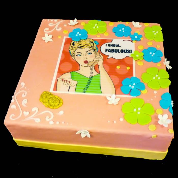 Taarten met POP ART afbeeldingFabulous