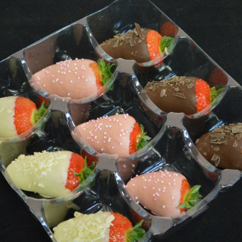 Dip Aardbeien box ( 9st.)