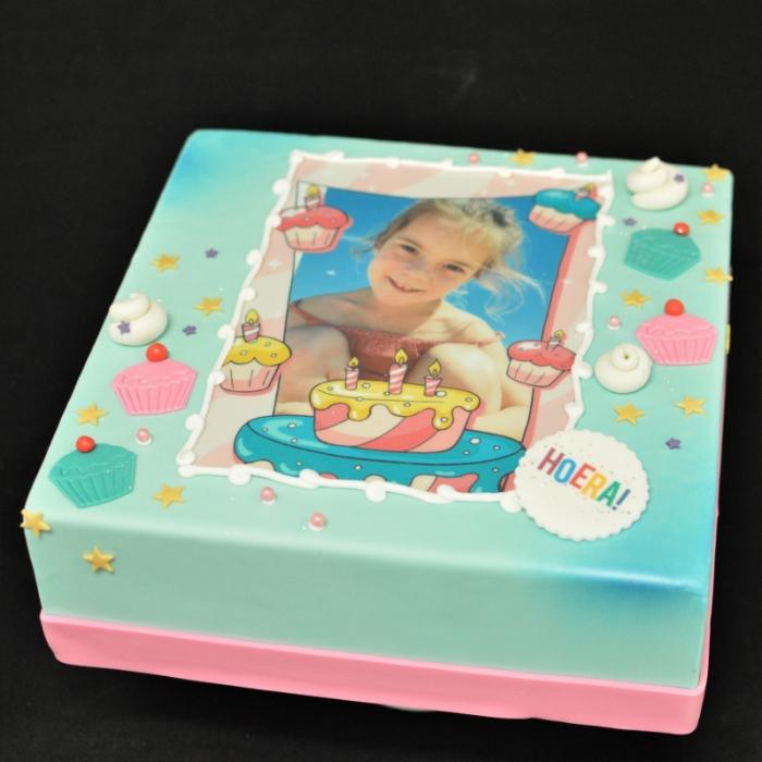 Taarten met Foto en FotoframeFotoframe - Cupcake