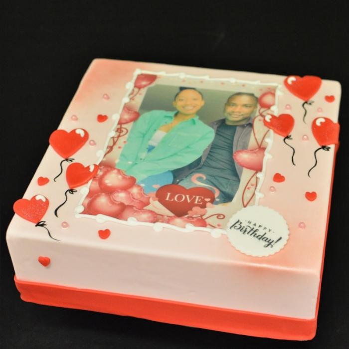 Taarten met Foto en FotoframeFotoframe - Liefde