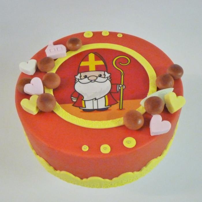 Sint taarten met afbeelding, foto of logoSint taart met strooigoed
