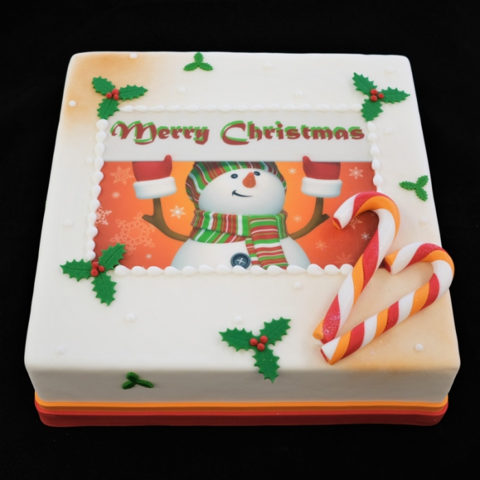 Kersttaarten met afbeelding, foto of logoCandy Stick