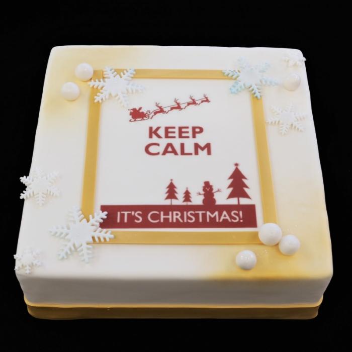 Kersttaarten met afbeelding, foto of logoKeep Calm Christmas