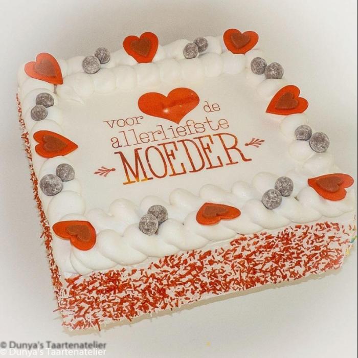 Valentine  slagroomtaart met afbeelding, foto of logoVoor de allerliefste....