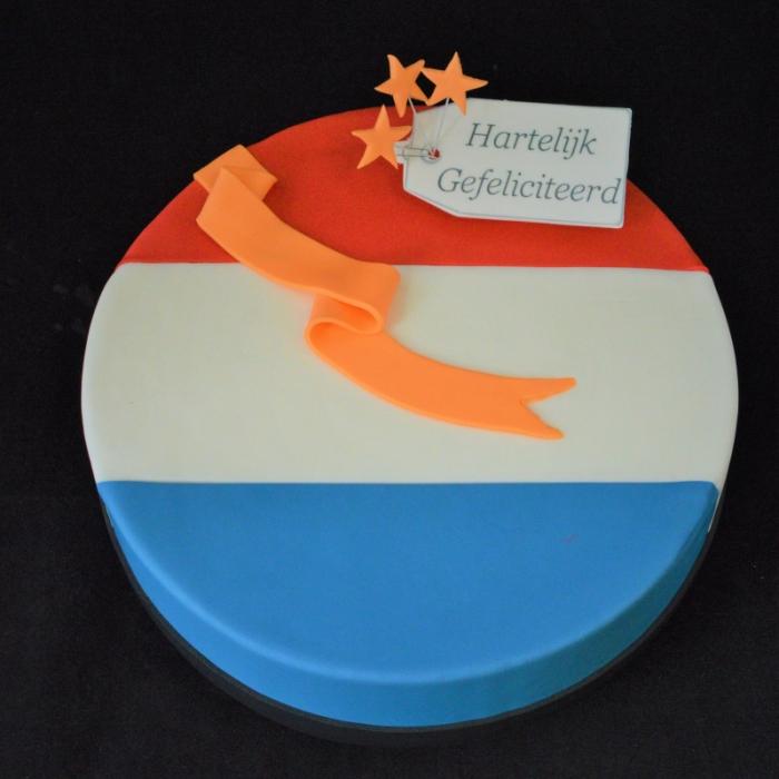 Vlaggen taartVLAG - NEDERLAND