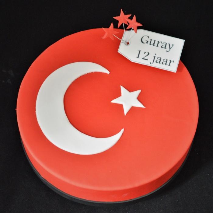Vlaggen taartVLAG - TURKIJE