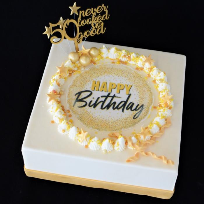 CELEBRATION TAARTENCelebrate - Happy Birthday - gold