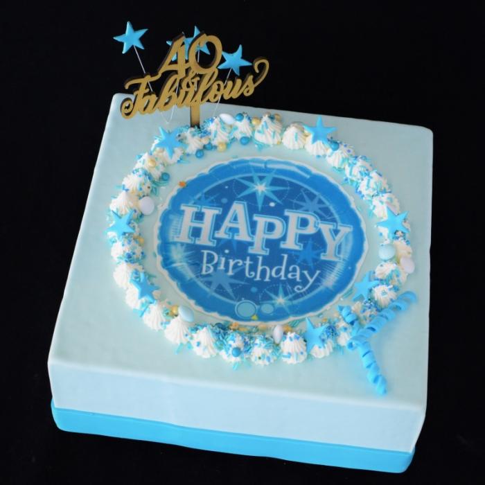CELEBRATION TAARTENCelebrate - Happy Birthday - blue