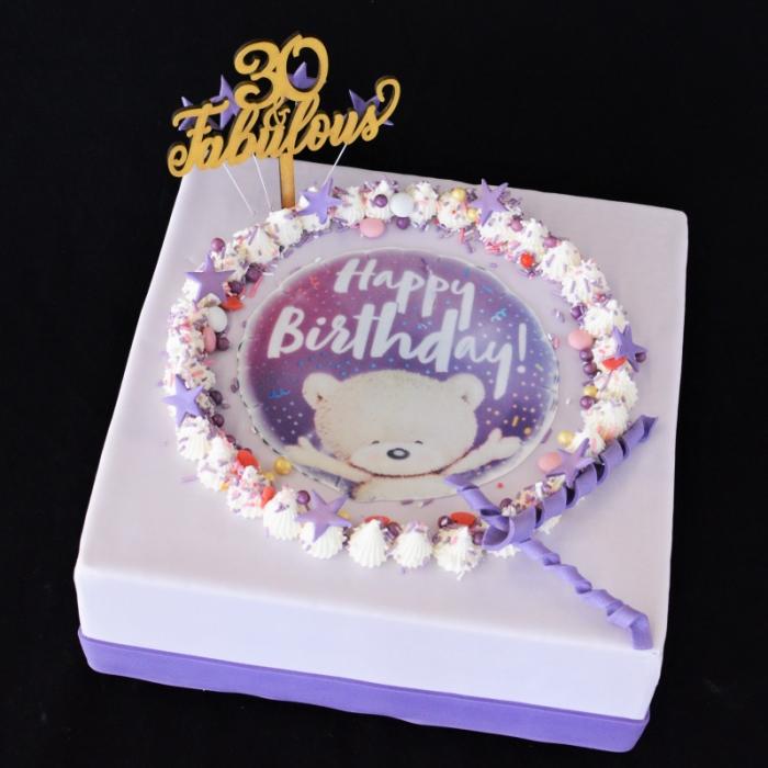 CELEBRATION TAARTENCelebrate - Happy Birthday - purple