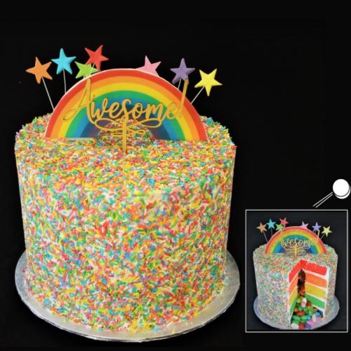 CELEBRATION RAINBOW PINÂTA CAKE