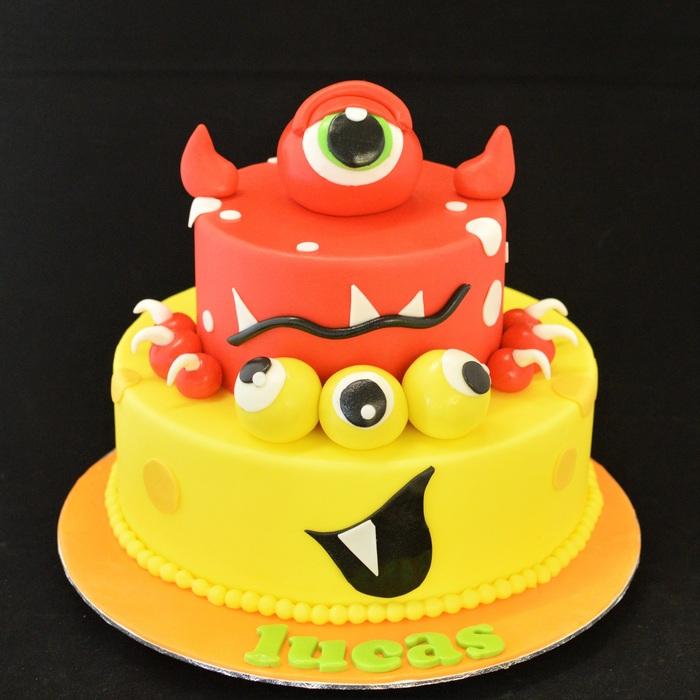 MonstersMonster taart - stapeltaart (Lucas)